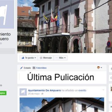 La página Municipal en Facebook