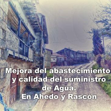 Abastecimiento de agua en Ahedo y Rascón
