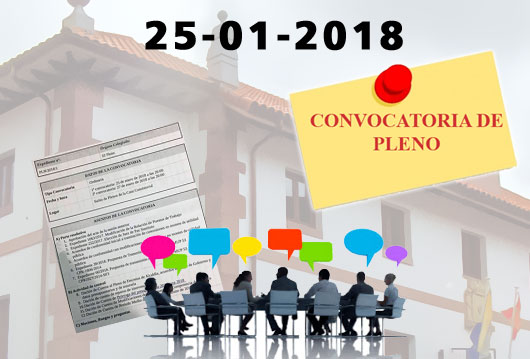 Convocatoria Pleno Enero 2018